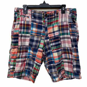 GAP Size 34 Madras Plaid Shorts Multi